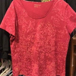 Red Coldwater Creek Blouse
